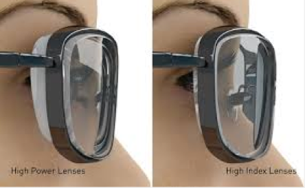 119b15315 These lenses are ideal for people who require strong Minus & Plus  prescriptions, High index lenses are 10-25% lighter and 15-30% thinner that  regular ...